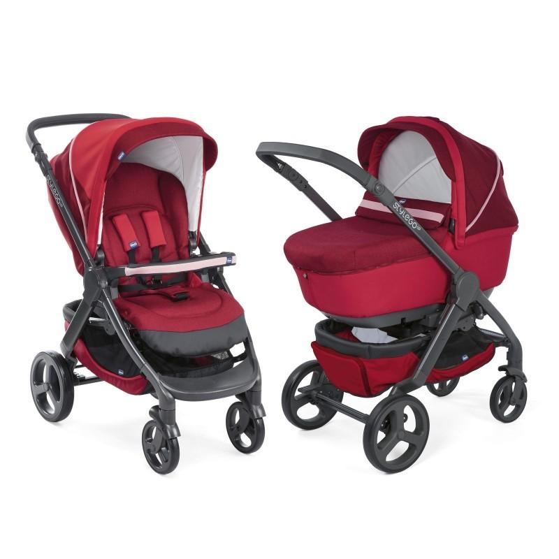 Chicco Комбинирана количка 2в1 Duo StyleGo Up Red Passion