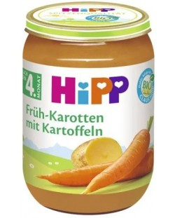 Био зеленчуково пюре Hipp - Ранни моркови и картофи, 190 g