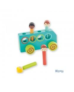 Дървена играчка Andreu Toys - Автобус