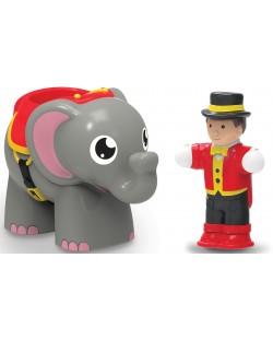 Детска играчка WOW Toys - Слончето Ели и нейният дресьор