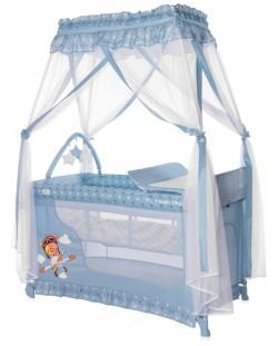Детска кошара Lorelli Magic Sleep - Adventure, синя