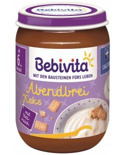 Млечна каша Bebivita Лека нощ - Грис с бисквити, 190 g