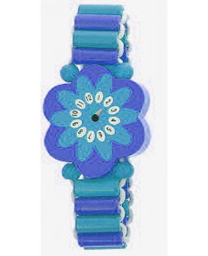 Гривна с дървени мъниста Andreu Toys - Синьо цвете - 1
