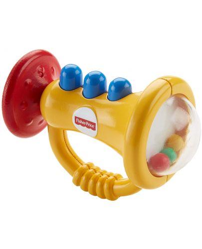 Бебешка играчка за дъвчене Fisher Price - Тромпет - 3