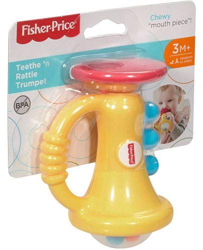 Бебешка играчка за дъвчене Fisher Price - Тромпет - 1