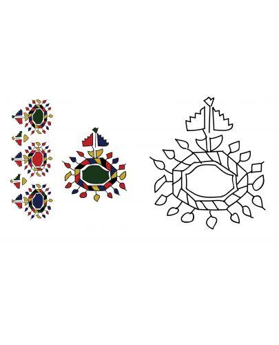 Български народни шевици. Малка книга за оцветяване / Bulgarian traditional patterns. А little coloring book - 2