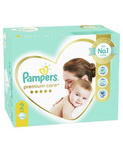Бебешки пелени Pampers - Premium Care 2, 148 броя  - 1