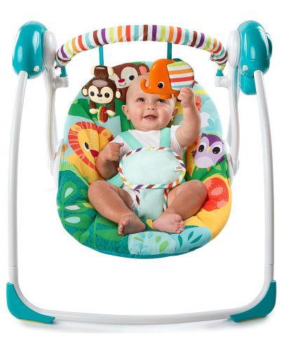 Бебешка електрическа люлка Bright Starts Safari Surprise - 3