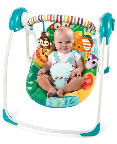 Бебешка електрическа люлка Bright Starts Safari Surprise - 2
