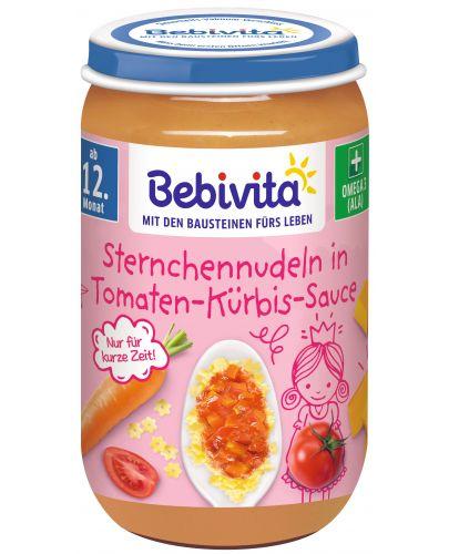 Ястие Bebivita - Макарони с домати и тиква, 250 g - 1