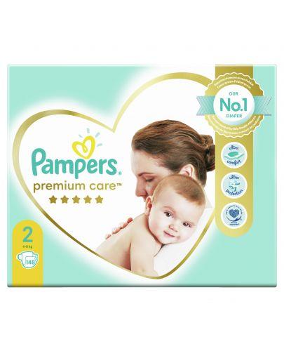 Бебешки пелени Pampers - Premium Care 2, 148 броя  - 2