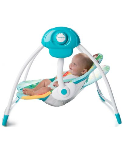 Бебешка електрическа люлка Bright Starts Safari Surprise - 6