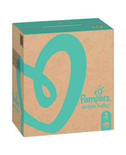 Бебешки пелени Pampers - Active Baby 3, 208 броя  - 2