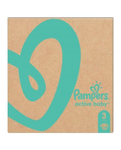 Бебешки пелени Pampers - Active Baby 3, 208 броя  - 3