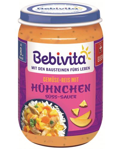 Ястие Bebivita - Ориз, зеленчуци и кисело-сладко пиле, 220 g - 1
