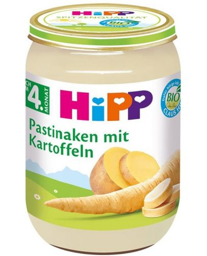 Био зеленчуково пюре Hipp - Пащърнак с картофи, 190 g - 1