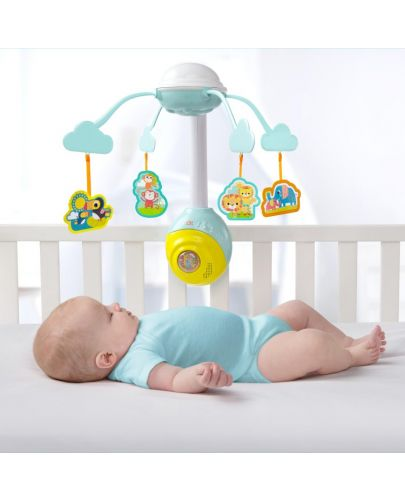 Бебешка музикална въртележка Bright Starts - Safari 2-in-1 - 3