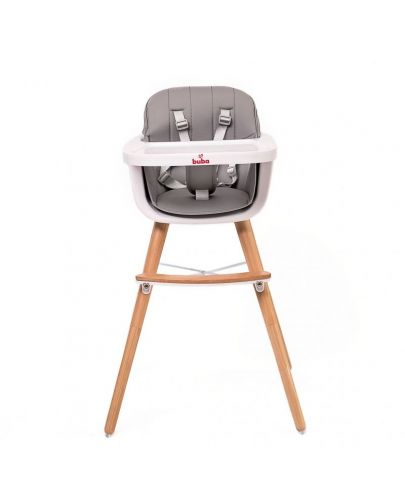 Столче за хранене Buba - Carino, сиво - 1