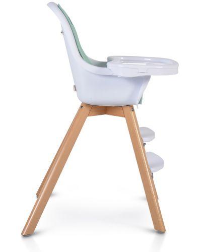 Дървено столче за хранене 2 в 1 Cangaroo - Hygge, мента - 3