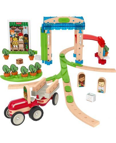 Дървен конструктор Fisher Price Wonder Makers - Малък град, 75 части - 3