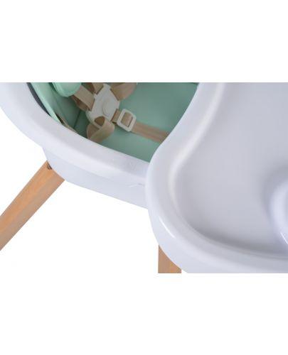 Дървено столче за хранене 2 в 1 Cangaroo - Hygge, мента - 4