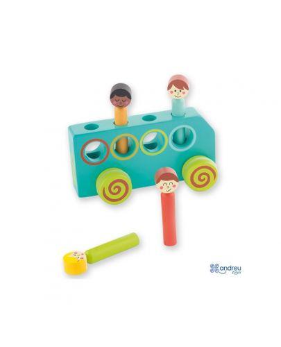 Дървена играчка Andreu Toys - Автобус - 1