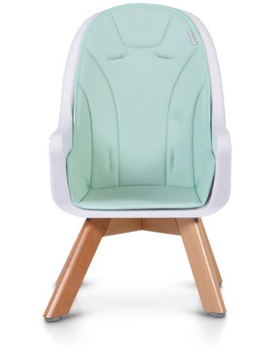 Дървено столче за хранене 2 в 1 Cangaroo - Hygge, мента - 9