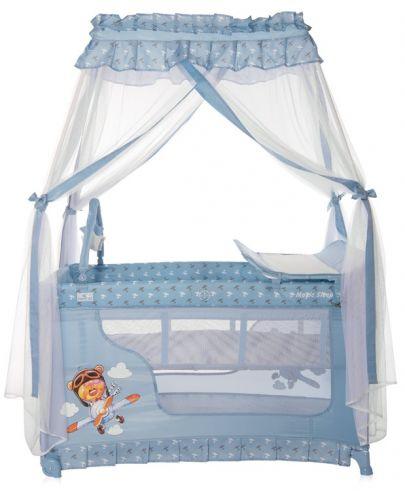 Детска кошара Lorelli Magic Sleep - Adventure, синя - 2