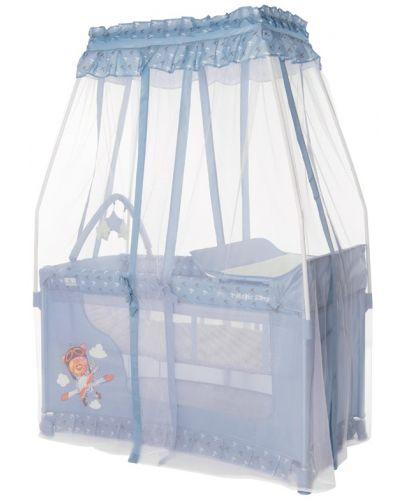 Детска кошара Lorelli Magic Sleep - Adventure, синя - 3