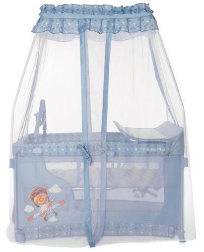 Детска кошара Lorelli Magic Sleep - Adventure, синя - 4
