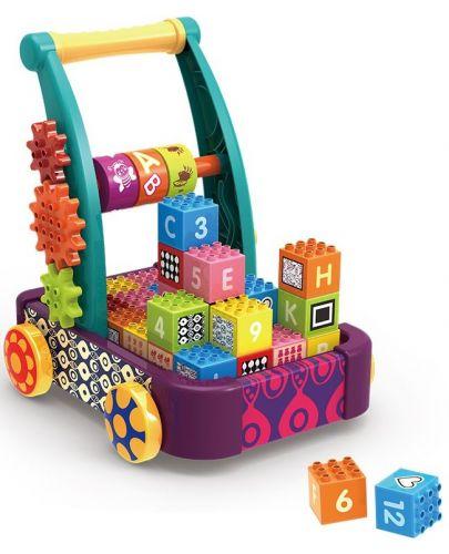 Играчка за бутане колела и кубчета Chipolino - 1