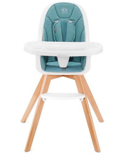 Столче за хранене 2 в 1 KinderKraft Tixi - Тюркоаз - 3