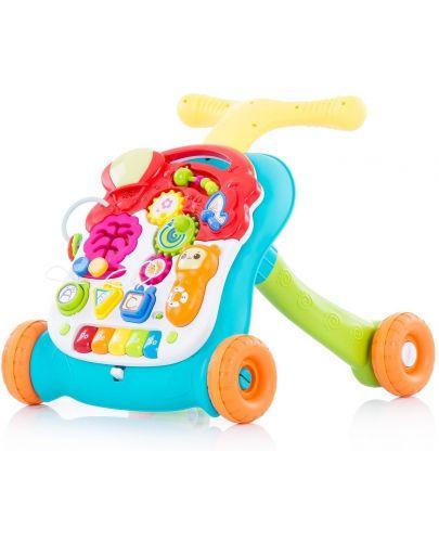 Музикална играчка на колела Chipolino - Мулти, зелена - 1