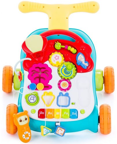 Музикална играчка на колела Chipolino - Мулти, зелена - 2