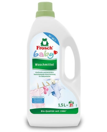 Перилен препарат за бебешки дрехи Frosch, 1.5 l  - 1