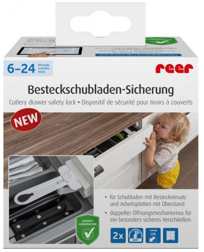 Предпазно заключване на чекмедже за прибори Reer, 2 броя - 9