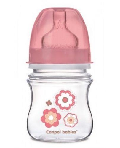 Шише антиколик Canpol - Newborn Baby, 120 ml, розово - 1