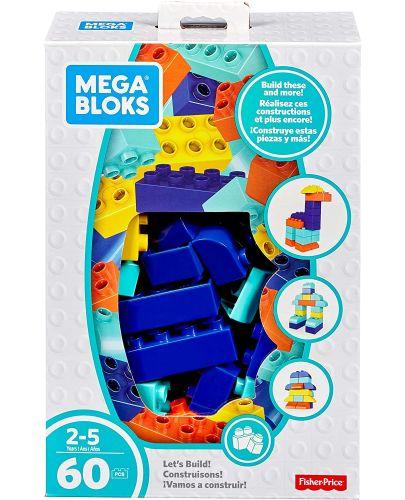 Строителни блокчета Fisher Price Mega Bloks - 60 части - 1