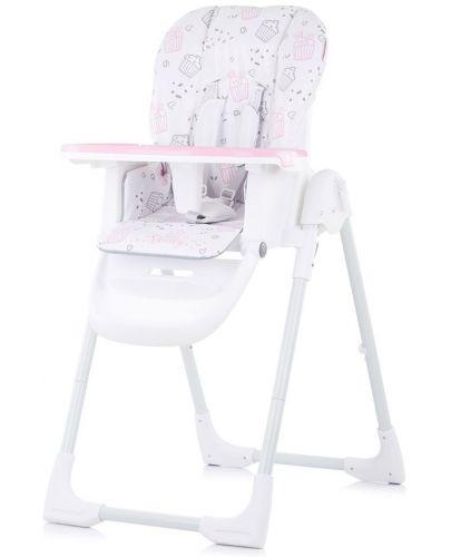 Столче за хранене Chipolino - Sweety, розово - 1