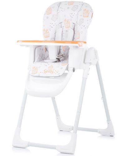 Столче за хранене Chipolino - Sweety, оранжево - 1