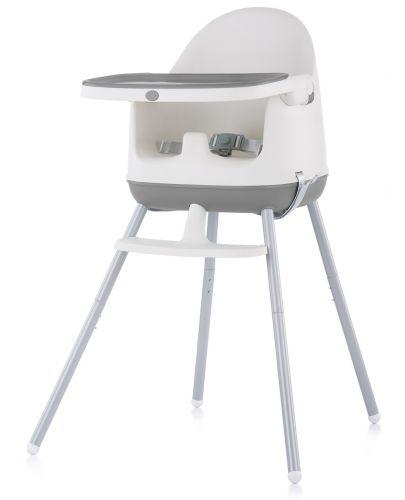Столче за хранене 3 в 1 Chipolino - Пудинг, сиво - 1