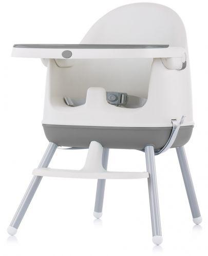 Столче за хранене 3 в 1 Chipolino - Пудинг, сиво - 3