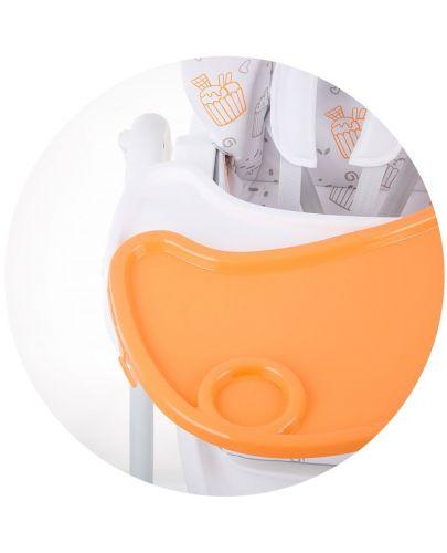 Столче за хранене Chipolino - Sweety, оранжево - 7