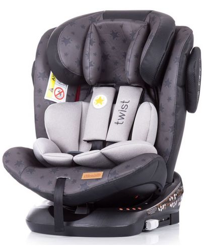 Столче за кола Chipolino - Туист, с IsoFix, 0-36 kg, сиво - 1