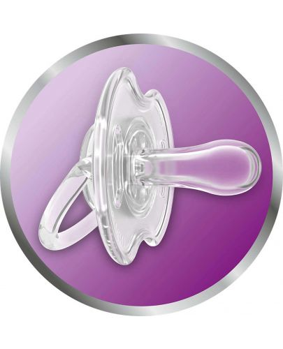 Залъгалки за свободен поток Philips Avent, 0-6 месеца, 2 броя, розово и бяло - 3