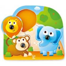 Дървена играчка Hape - Пъзел с джунгла -1