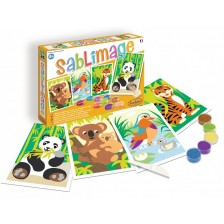 Комплект за рисуване с пясък Sentosphere - Екзотични животни -1