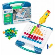 Детски комплект Learning Resources – Мозайка, куфарче с винтоверт -1