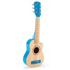 Детски музикален инструмент Hape - Китара Синя лагуна, от дърво -1