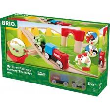 Комплект Brio My First Railway - На батерии, 25 части -1